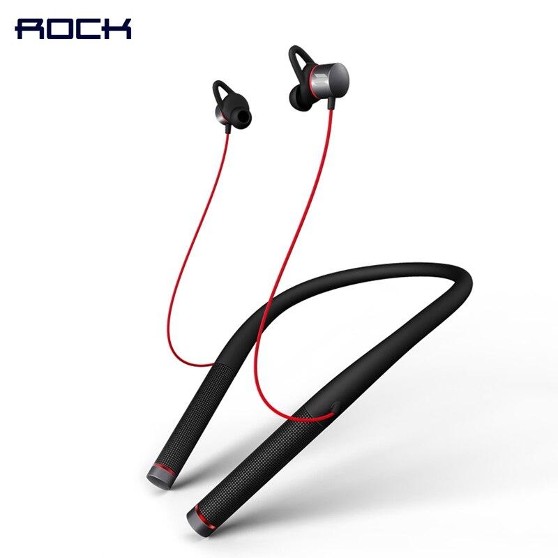 Mudo Neckband Fone de Ouvido Bluetooth, ROCHA Série Espaço Vluetooth 4.1 Versão Magnética Do Bluetooth Neckband Fone de Ouvido com Microfone