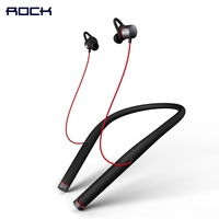 Mudo Neckband Bluetooth Headphone ROCK Space Series Vluetooth 4 1 Version Magnetic Neckband Bluetooth Earphone With