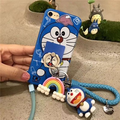 iboann Exclusive custom doraemon for iphon6s plus for apple shell xiaopang 7 silicone protective cover anti fall cute case cover