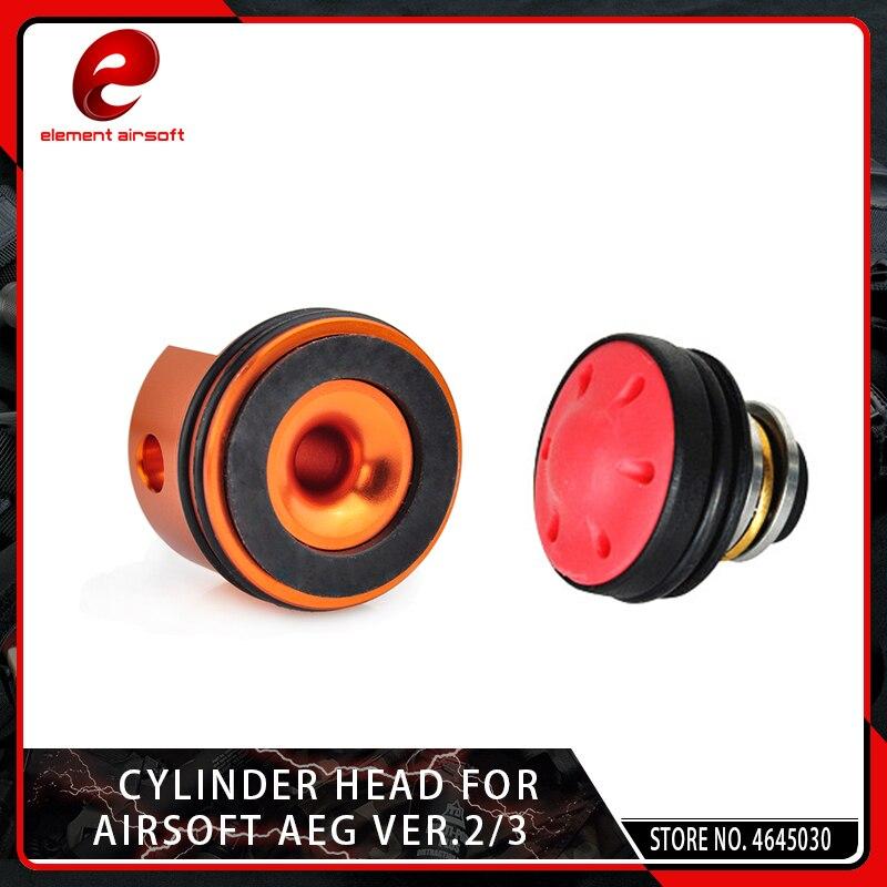 Elemento Airsoft CNC Silenzioso Cuscinetto Pistone Testa del Cilindro per Softair AEG Cambio Ver.2/3 M4 M16 AK MP5 G3 m249 Caccia Accessori
