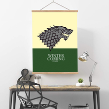 Wall Art poster hanger scrolls Game of Thrones Canvas Home Decoration
