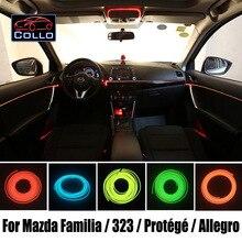 Консоли автомобиля Декоративные Полосы/9 М EL Провода Для Mazda Familia/323/Protege/Protege5/Allegro/Романтическая Атмосфера Лампы