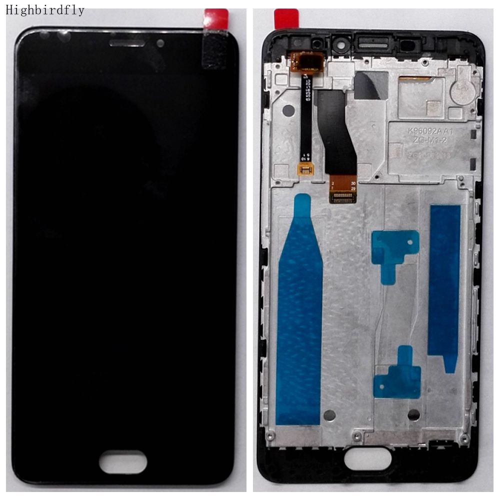 Highbirdfly For Meizu M5 Note M621H M621Q M621M Lcd Screen Display WIth Touch Glass DIgitizer Frame Assembly Replacement Parts