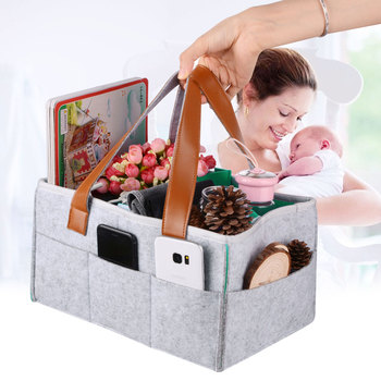 Foldable Baby Diaper Mummy Caddy Gift Kid Toys Portable Bag/box for Travel Changing Table Organizer фото