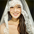 Hot-selling 1.5/3 meters Long lace decoration wedding veil bridal accessories veils high quality lace cathedral veil