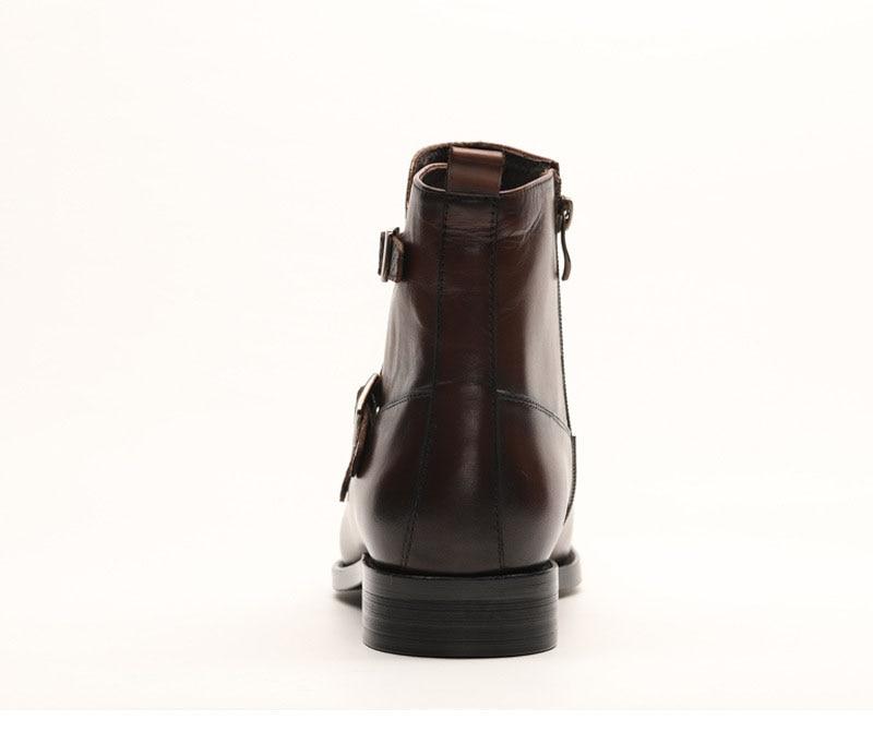QYFCIOUFU Marke Neue männer Stiefel Aus Echtem Leder Männer Kleid Stiefel Schuhe Männlichen Britischen Chelsea Schnalle Herren Arbeit Stiefel - 6