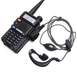 Image 1 - 5 pièces talkie walkie casque écouteur 2pin PTT eadset pour KENWOOD BAOFENG UV 5R BF 888S chape H777 RT7 pour QUANSHENG pour PUXING
