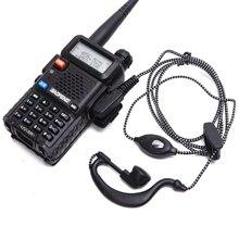 5 uds walkie talkie auricular 2pin PTT eadset Para KENWOOD $TERM impacto BAOFENG UV 5R BF 888S RETEVIS H777 RT7 para iluminación LeD en para PUXING