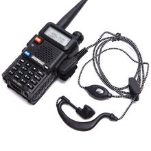 5pcs walkie talkie headset earpiece 2pin PTT eadset For KENWOOD BAOFENG UV 5R BF 888S RETEVIS H777 RT7 For QUANSHENG for PUXING