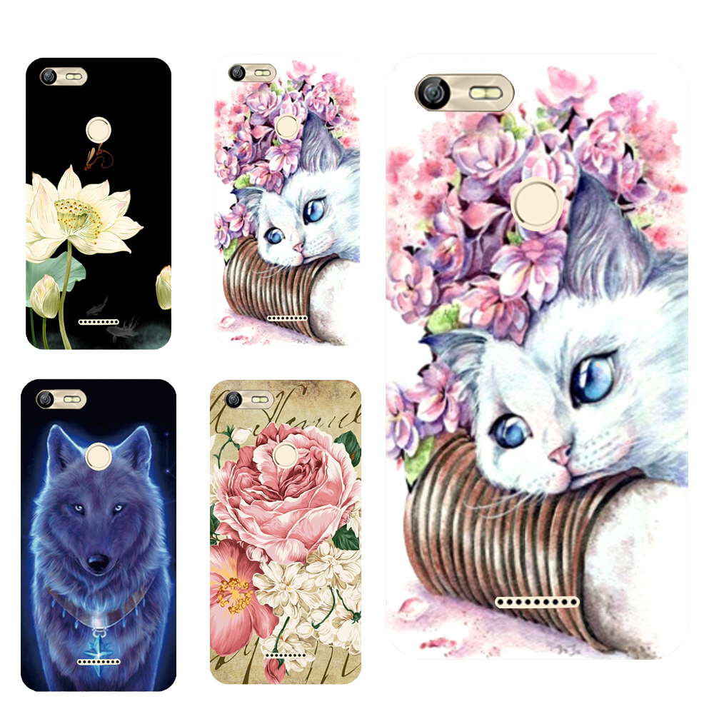 For BQ 5204 Floral Sleepy Darling Baby Cat Animal Case For BQ-5204 Strike Selfie Back Cover Bag TPU Cases
