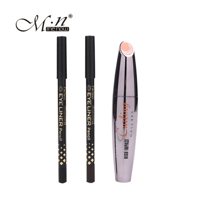 by DHL 100Sets New Menow Brand Thick Mascara Set With Gift Two Pencil Black / Brown Comb ...