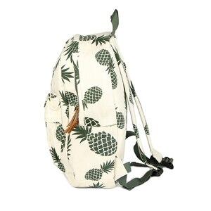 Image 3 - Vintage moda ananas gençler için sırt çantaları kızlar yüksek kaliteli kanvas laptop sırt çantası meyve baskılar kadın seyahat sırt çantası