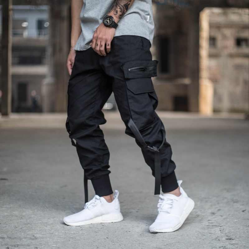 Hip Hip Streetwear Men S Black Cargo Joggers Pants 2019 Men Military Style Casual Camouflage Pants Trousers Harem Pant Wj221