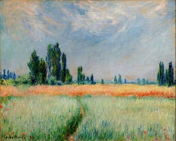 High quality Oil painting Canvas Reproductions The Wheat Field (1881) By Claude Monet hand painted