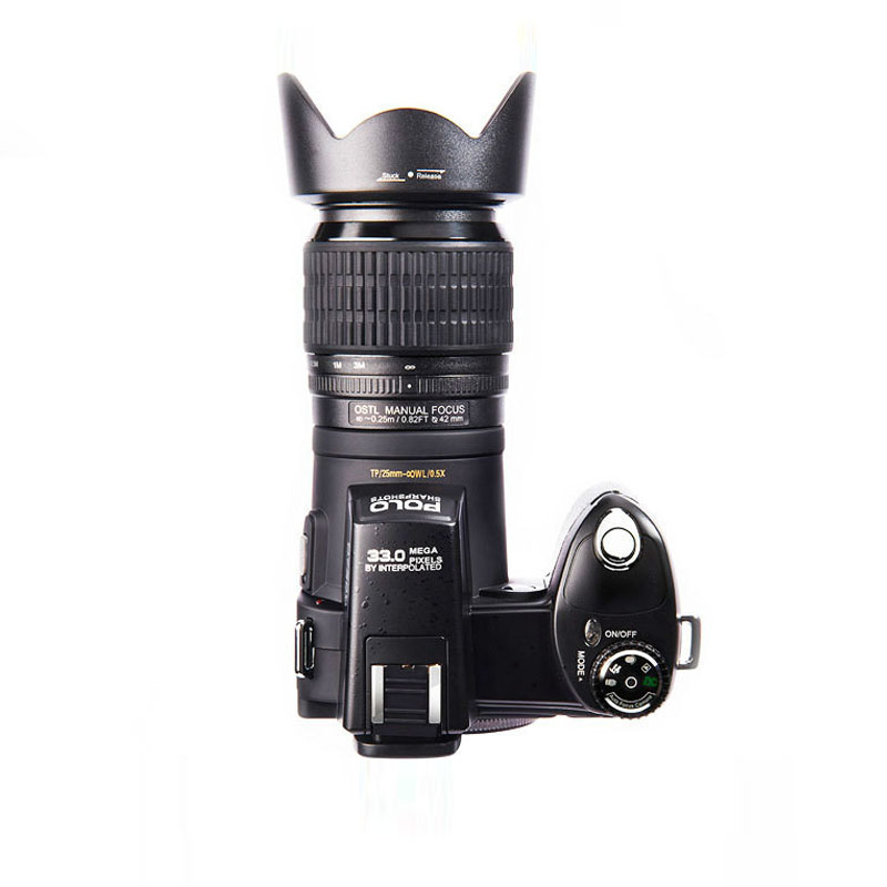 PROTAX D7100 33MP Professional DSLR Shape Digital cameras 24X Telephotos Lens 8X Digital zoom Wide Angle Lens LED Light