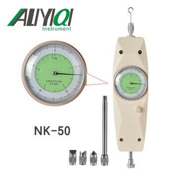 Free shipping NK-50N analog force gauge push and pull testing meter  50N/5Kgdynamometer