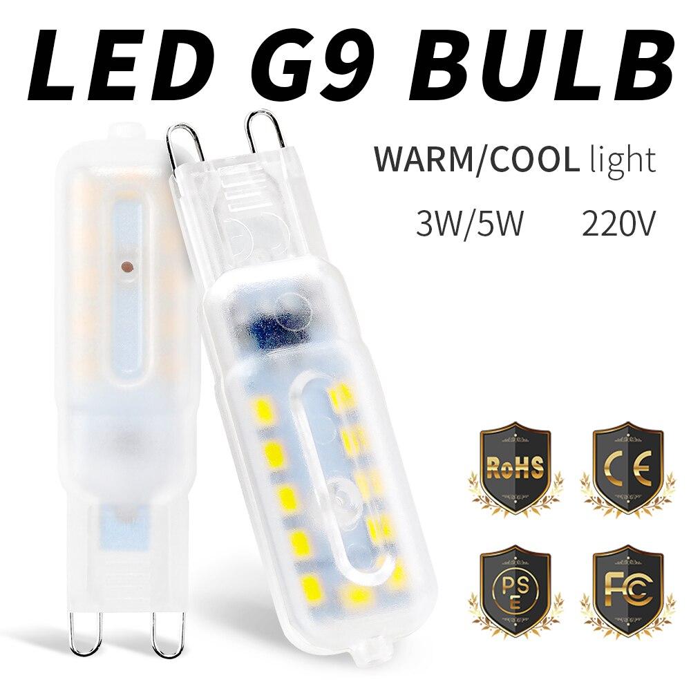 Mini Corn Bulb G9 LED Bulb 3W 5W SMD 2835 Bombilla LED G9 Spotlight For Crystal Chandelier Lights Replace Halogen LED Lamp 220V