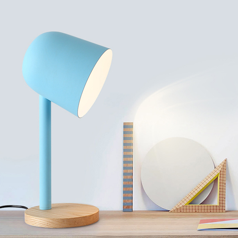 Modern Art Deco Painted Nordic Simple Style Creative Desk Lamps E27 Led 220v Mini Table Lamp For Reading Bedside Home Bedroom Leather Bag