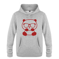New Men Women Lovely Panda Hoodies Cotton Winter Little Panda With Glasses Pullover With Hood