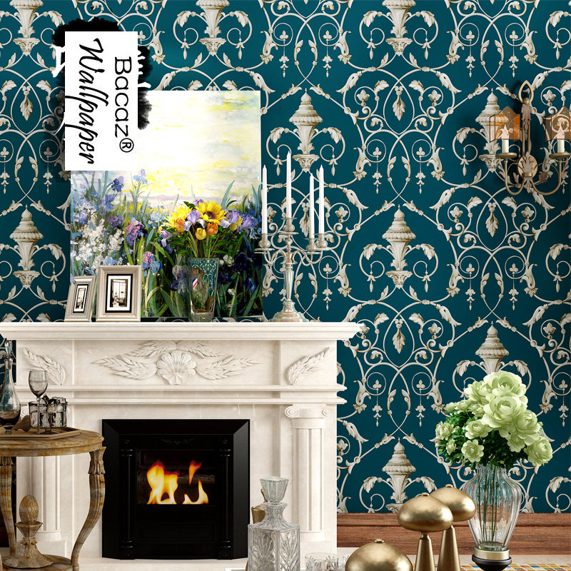 American Style vintage non-woven 3d Wall murals wallpaper Rolls for tv background crochet Flower 3d wall paper for liviing room flag wallpaper non woven american vintage flower wallpaper living room background wall 0 53mx10m papeles pintados