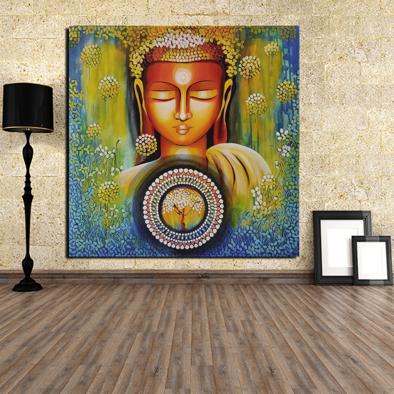 Acrylic Lord Buddha Paintings Wall Art Canvas Painting Posters Prints Modern Painting Wall Picture For Living Room Home Decor HD in Painting Calligraphy from Home Garden