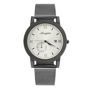 Modern Classic Women's Men's WristWatch Delicate Steel Strap lover clock luxury Quartz Casual Calendar Watch zegarek damski A4
