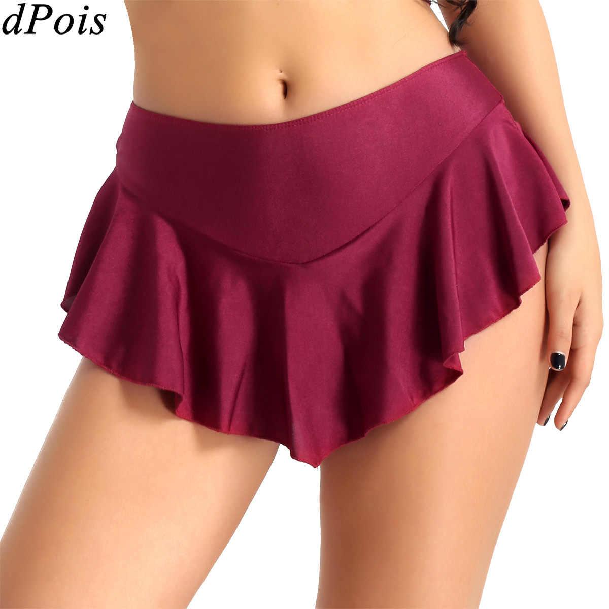 Las mujeres elástico falda de tenis con pantalones cortos de patinaje Mini falda Falda corta bádminton de gimnasia traje para niñas