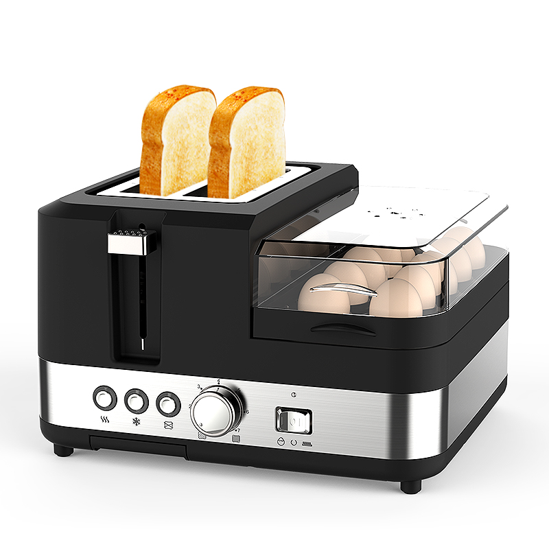 220V Multifunctional Electric Full-automatic Household Toaster Machine With Frying Pan Steamer Breakfast Maker EU/AU/UK/US Plug