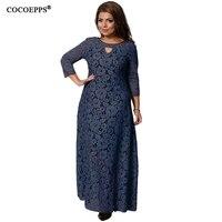 COCOEPPS 2018 New Women Dresses Autumn Winter Lace Dress For Women Fashion Plus Size Women Clothing