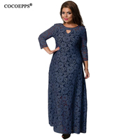 COCOEPPS 2018 New Women Dresses Autumn Winter Lace Dress For Women Fashion Plus Size Women Clothing