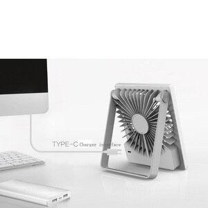 """Image 2 - Youpin Smartfrog Lade Folding USB Fan 4 """"Mini Fan Tragbare Fan Stumm Starken Winde für Sommer Wärme Home Büro"""