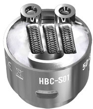 GeekVape Eagle HBC-S01-Staggered Fused Clapton Single Coil Heads for Geek Vape Eagle Tank-2Pcs/Tube