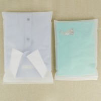 DHL Matte Clear Clothing Storage Plastic Ziplock Bags Self Seal Reusable Books Clothes Packaging Poly Zip