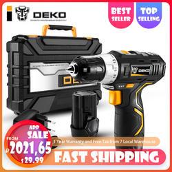DEKO GCD12DU3 12 V Max электрические Беспроводная электродрель-отвёртка мини Беспроводной Мощность драйвер DC литий-ионный Батарея 3/8-дюймовый