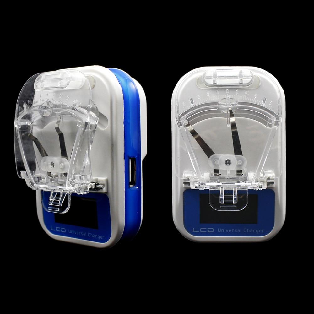 Biru Us Plug Mobile Phone Chargers Colorful Multi Travel Charger Ulir Led 2 Usb Universal Lcd Baterai Dinding Untuk Ponsel
