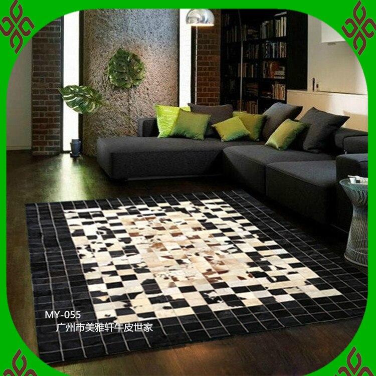 Free Shipping Via DHL 100 Natural Genuine Cow Leather Machine Made Carpet Turkey