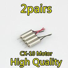 Cheerson CX-10 CX10 CX-10 CX-10A V646 V676RC Part CW/CCW Motor for Cheerson CX-10 Hubsan H111 RC motor parts
