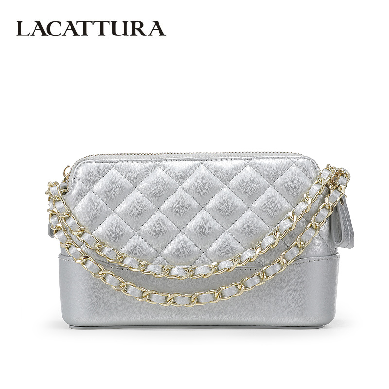 LACATTURA Luxury Handbags Women Messenger Small Bags Patchwork Designer Crossbody for Lady Brand Shoulder Bag Flap Clutch Purse taliayh luxury handbags women bags designer fashion brand chain evening clutch bag female messenger crossbody bags for women