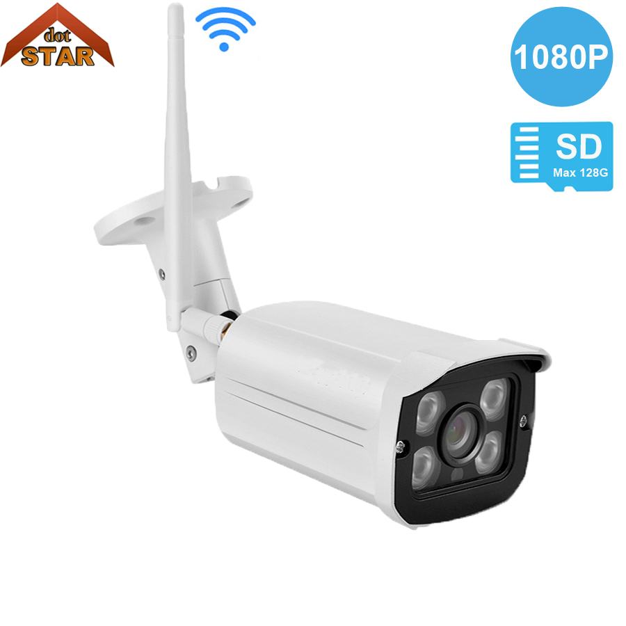 Stardot HD 720P WIFI Wireless IP Camera 1080P Outdoor TF Card Slot ONVIF Surveillance Waterproof P2P View CCTV WI-FI Camera hd 720p 1080p wifi ip camera 960p outdoor wireless onvif p2p cctv surveillance bullet security camera tf card slot app camhi