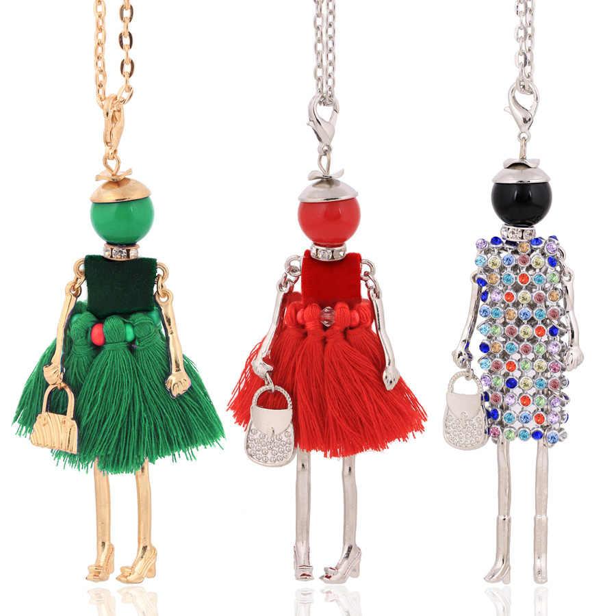 Chenlege Vòng cổ thời trang nữ nữ Vòng cổ dài nữ lớn chokers vòng cổ & Mặt dây chuyền 2019 dây chuyền trang sức cô gái Quà Tặng