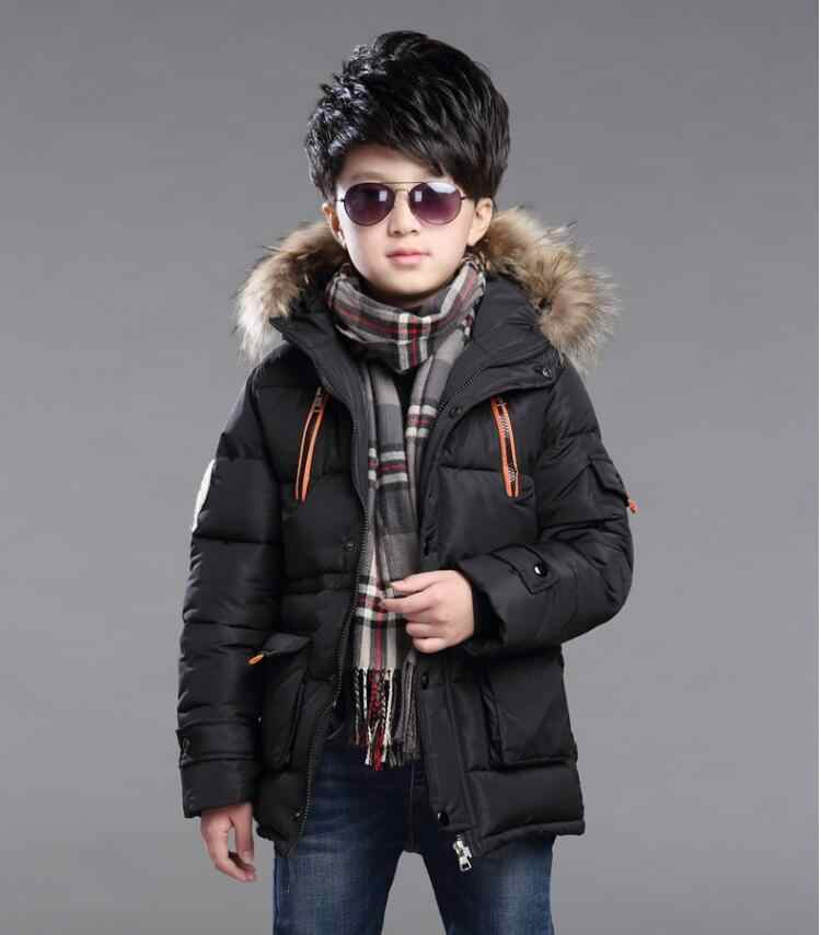 96dd0b1c8c684 3 years old boy cotton coat 4 baby long section 5 winter thickening plus  velvet jacket 6 children's clothing 2018 new children