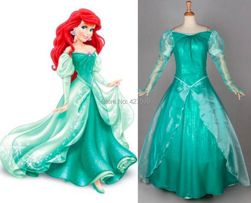 Little Mermaid Green Ariel Dress Princess