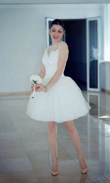 Robe de mariage mini for Robes de mariage designer amazon