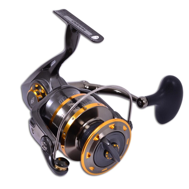 Haibo Professional Saltwater Spinning Fishing Reel 5000 6000 7000 8000 9000 7BB 4.9:1 Surf Casting Reel Trolling Jigging Wheel trendy women s sweetheart neck sleeveless floral print knee length dress