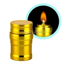 Portable Mini 10ml Alcohol Burner Lamp Aluminum Case Lab Equipment Heating Lamp New G08 Drop ship