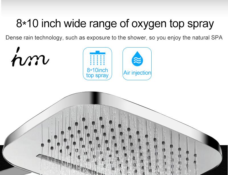 hm Installed Square shower Set Intelligent Digital Temperature Shower Brass Rain Faucet Smart Digital Display Wall Waterfall  (7)