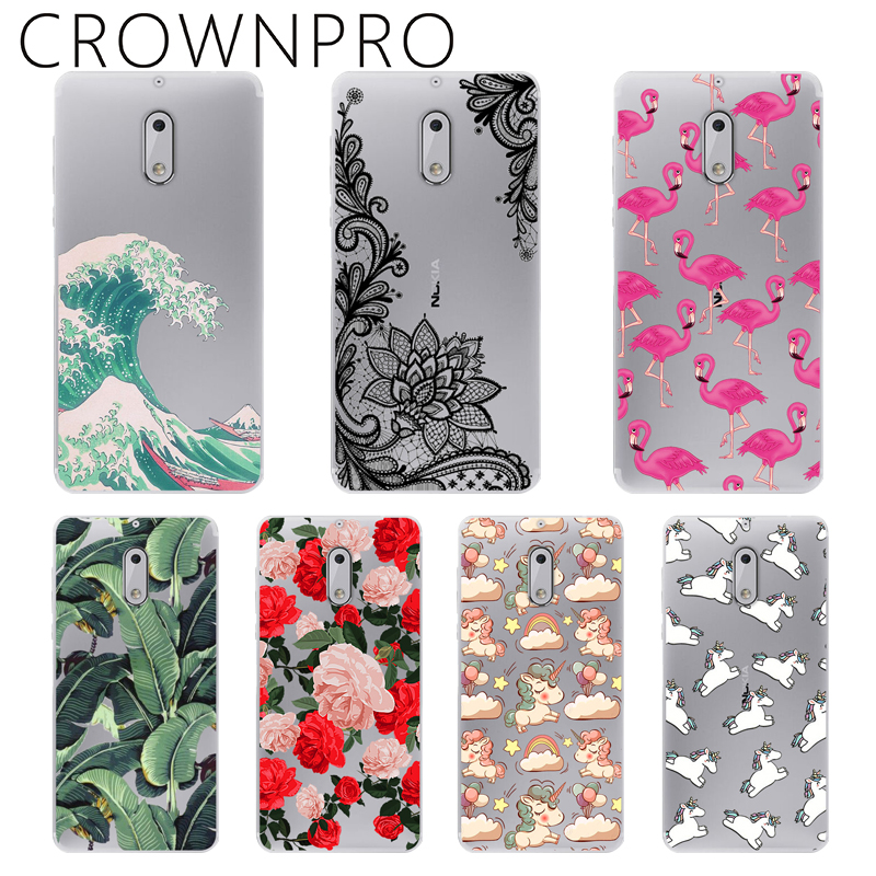 CROWNPRO FOR Capa Nokia 6 Case Cover Soft Silicone FOR Nokia 6 2017 TA-1000 TA-1003 5.5