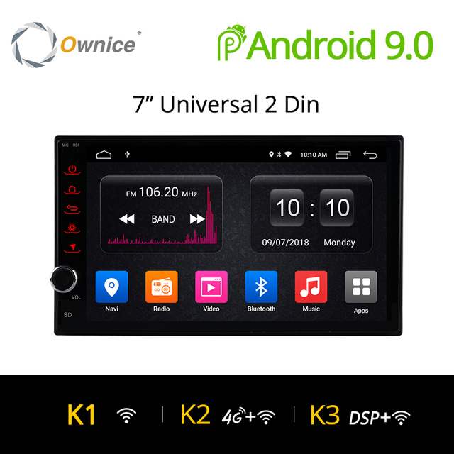 Ownice K1 アンドロイド 8.1 Gps ナビゲーション 2 グラム RAM DVD 2 Din カーラジオ Bt USB ユニバーサル日産トヨタ VW プジョープレーヤーサポート 4 グラム