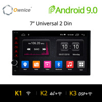 Ownice K1 Android 8.1 GPS Navigation 2G RAM DVD 2 Din Car Radio BT USB Universal For Nissan Toyota VW Peugeot Player Support 4G
