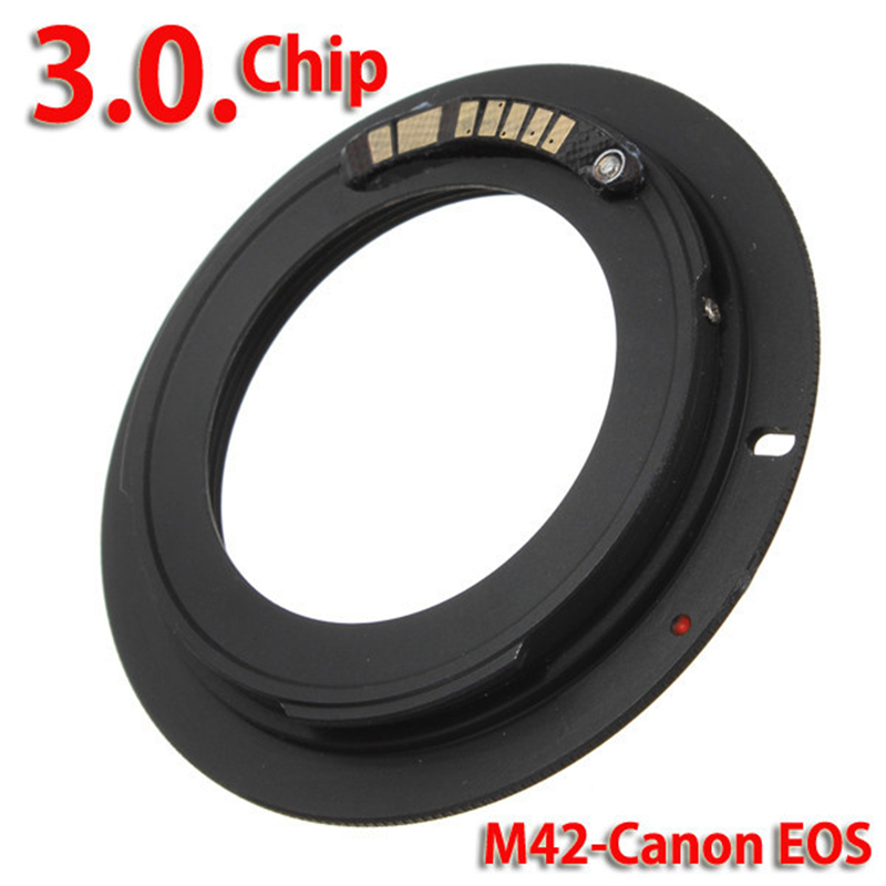 AF Confirm M42 Mount Lens Adapter Ring For M42-EOS M42 Lens for Canon EOS 500D,1000D,450D,400D,350D,300D,50D,40D,30D,20D,10D O3 fsk 2 4ghz wireless flash trigger for canon dslr eos 30 33 300 300d 400d 450d 350d 2xaaa 2xaaa